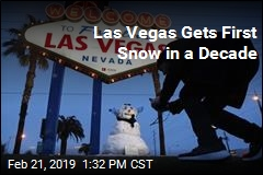 Las Vegas Gets First Snow in a Decade