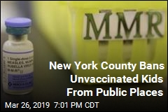 New York County Bans Unvaccinated Kids From Public Places