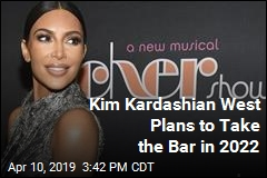 Kim Kardashian West Plans to Take the Bar in 2022
