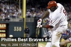 Phillies Best Braves 5-4