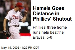 Hamels Goes Distance in Phillies' Shutout