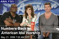 Numbers Back American Idol Worship