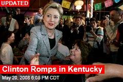 Clinton Romps in Kentucky