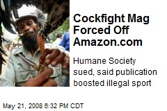 Cockfight Mag Forced Off Amazon.com