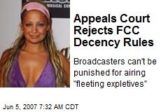 Appeals Court Rejects FCC Decency Rules