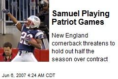Samuel Playing Patriot Games