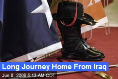 Long Journey Home From Iraq