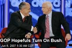 GOP Hopefuls Turn On Bush