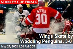Wings Skate by Waddling Penguins, 3-0