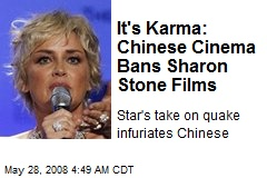 It's Karma: Chinese Cinema Bans Sharon Stone Films