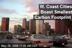 W. Coast Cities Boast Smallest Carbon Footprint