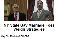 NY State Gay Marriage Foes Weigh Strategies