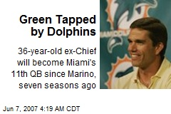 Green Tapped by Dolphins
