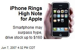 iPhone Rings High Note for Apple