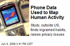 Phone Data Used to Map Human Activity