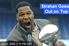 Strahan Goes Out on Top