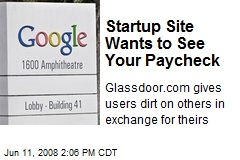 Startup Site Wants to See Your Paycheck