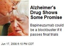 Alzheimer's Drug Shows Some Promise