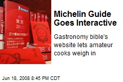 Michelin Guide Goes Interactive