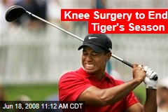 Knee Surgery to End Tiger's Season