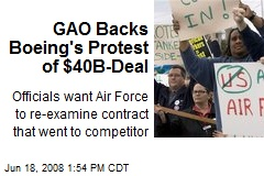 GAO Backs Boeing's Protest of $40B-Deal