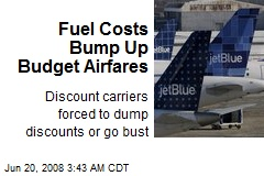 Fuel Costs Bump Up Budget Airfares