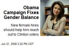 Obama Campaign Fixes Gender Balance