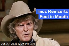 Imus Reinserts Foot in Mouth