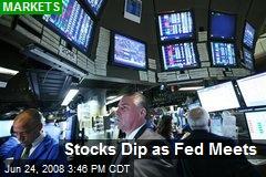 Stocks Dip as Fed Meets