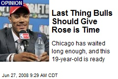 Last Thing Bulls Should Give Rose is Time