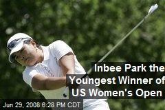 Inbee Park the Youngest Winner of US Women's Open