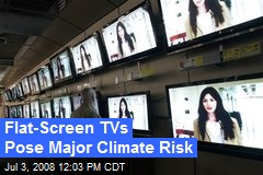 Flat-Screen TVs Pose Major Climate Risk