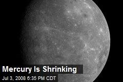 Mercury Is Shrinking