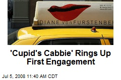 'Cupid's Cabbie' Rings Up First Engagement