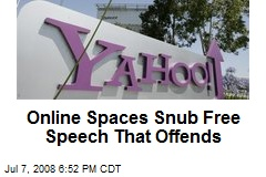 Online Spaces Snub Free Speech That Offends