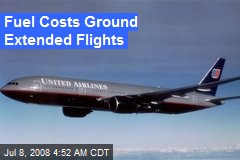 Fuel Costs Ground Extended Flights