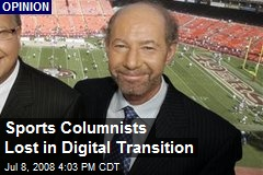 Sports Columnists Lost in Digital Transition