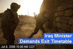 Iraq Minister Demands Exit Timetable
