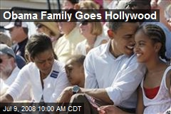 Obama Family Goes Hollywood