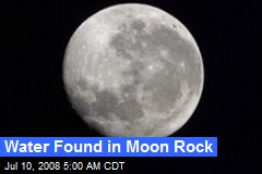 Water Found in Moon Rock