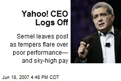 Yahoo! CEO Logs Off