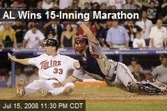 AL Wins 15-Inning Marathon