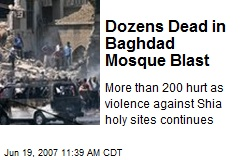 Dozens Dead in Baghdad Mosque Blast