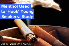 Menthol Used to 'Hook' Young Smokers: Study