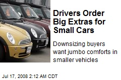 Drivers Order Big Extras for Small Cars