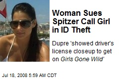 Woman Sues Spitzer Call Girl in ID Theft