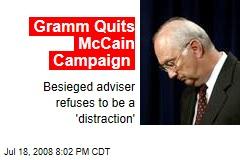Gramm Quits McCain Campaign