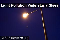 Light Pollution Veils Starry Skies