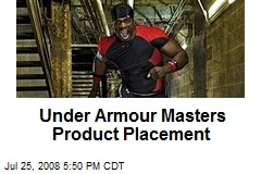 Under Armour Masters Product Placement