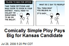 Comically Simple Ploy Pays Big for Kansas Candidate